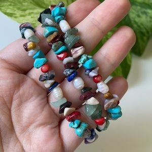 🆕Mixed Natural Stone Boho Chic Handmade Necklace